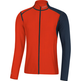 GORE RUNNING WEAR Fusion WS SO Zip-Off Top Men, orange.com/black iris